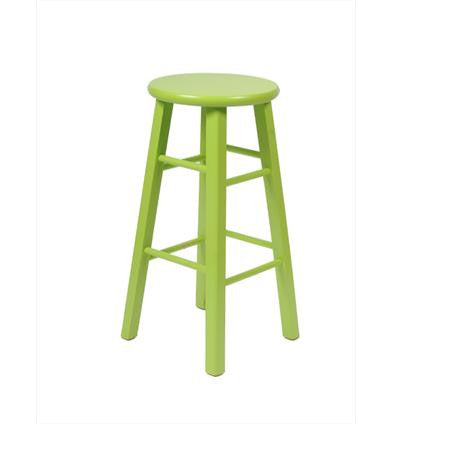 Bar Stool - Lime Green  - Backless