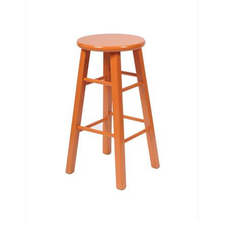 Bar Stool - Orange - Backless