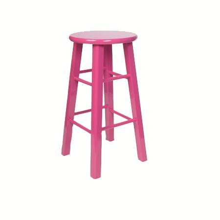 Bar stool - Hot Pink - Backless.