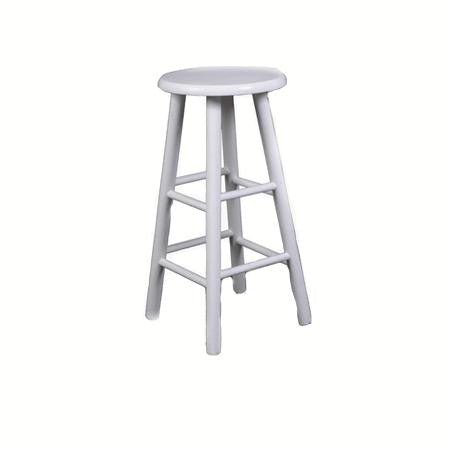 Bar stool - White - Backless