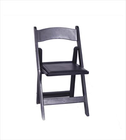 Black Folding Chair - Chairs