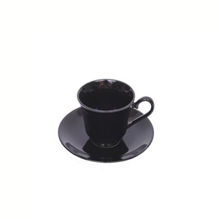 Party Rental Products Black Rim Cup and Saucer China