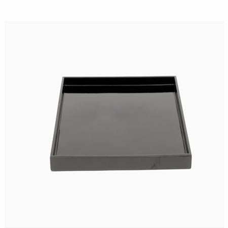 Party Rental Products Black Square Lacquer Tray Trays