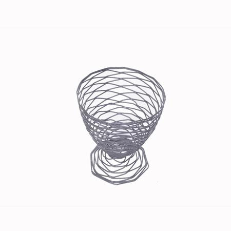 Party Rental Products Black Wire Cone Basket 8 inch  Tabletop Items