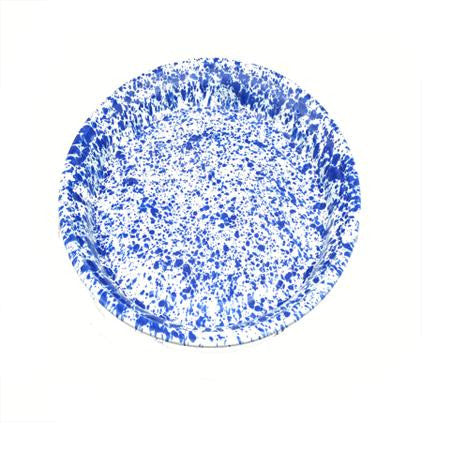 Blue Speckled 16 inch  Round Tray - Trays