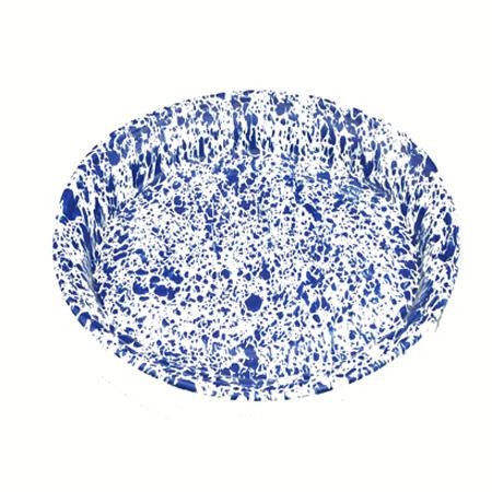 Blue Speckled 18 inch  Oval - Trays