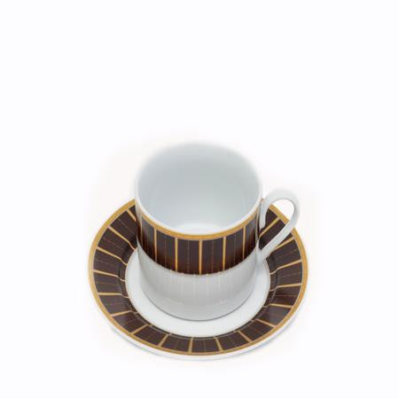 Brown Tiffany Cup&Saucer - China