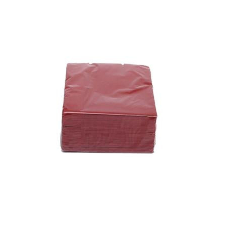 Party Rental Products Burgundy Cocktail Napkins Paper Products