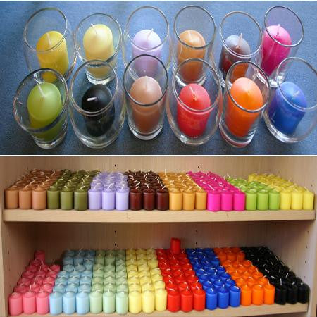 Colored 10 hr Votive Candles - Candles and Votives