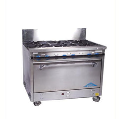 Party Rental Products Commercial Stove - 6 Burner Propane Cooking