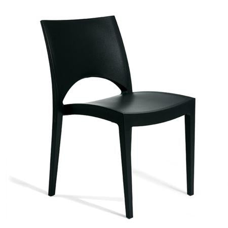 Contempo Flat Black Chair - Chairs