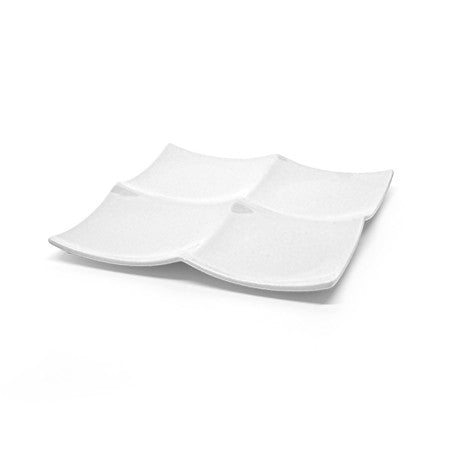"Contempo  Square 4 Section 10"" Tasting Dish"