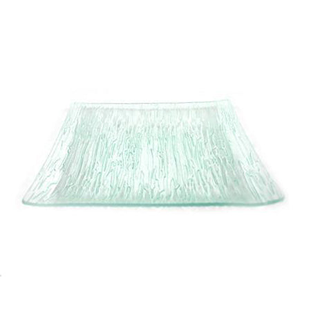 Crackle 12 inch  Square Glass Charger - Chargers