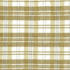 Party Linens Crinkle Plaid Taffeta White/Gold  Checks and Plaids