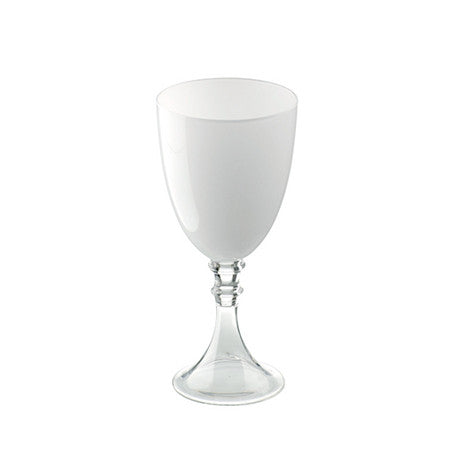 White Tinted Water Goblet 17 oz