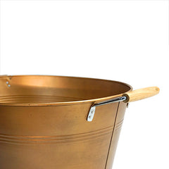 "Champagne Bucket Brushed Copper 16"" Oval"