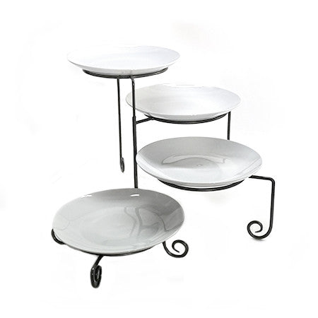 Wrought Iron 4 Tier Plate Stand