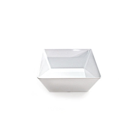 Square Bowl White Melamine 5