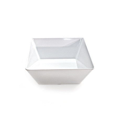 Square Bowl White Melamine 7