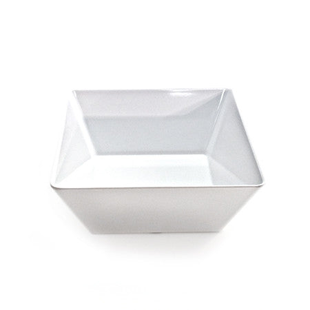 Square Bowl White Melamine 10""