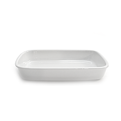 "Baking Dish Rectangle 10"" x 14"" White"