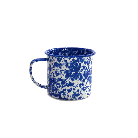 Blue Speckled Tin Mug 12oz