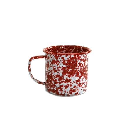 Red Speckled Tin Mug 12oz