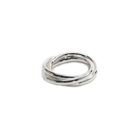 Silver Three-Ring Napkin Ring