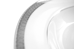 Platinum Silver Soup Bowl