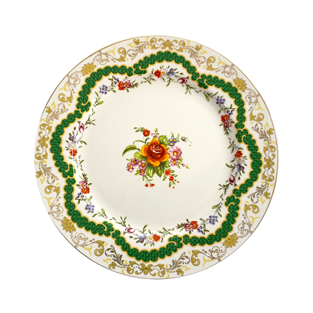 Fleur Green Decorative Dinner Plate
