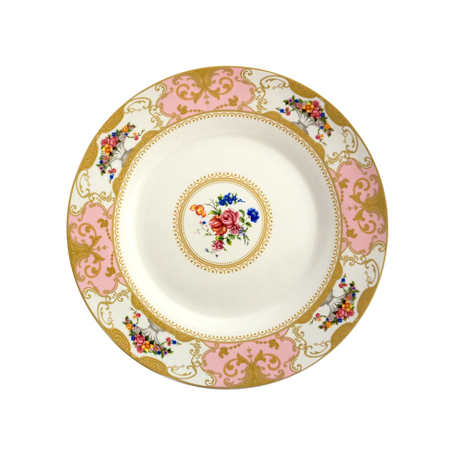Fleur Pink Decorative Dinner Plate