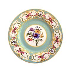 Fleur Robins Egg Decorative Dinner Plate