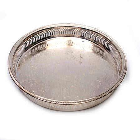 Galley Round 15 inch Silver Tray