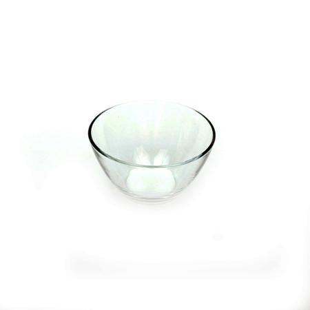 Glass Sugar Bowl - 5 inch  V Bowl - Coffee