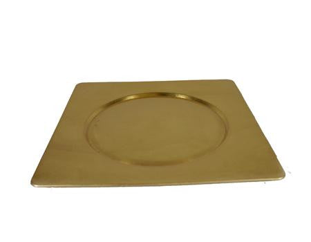 Gold Acrylic 12 inch  Square Charger - Chargers