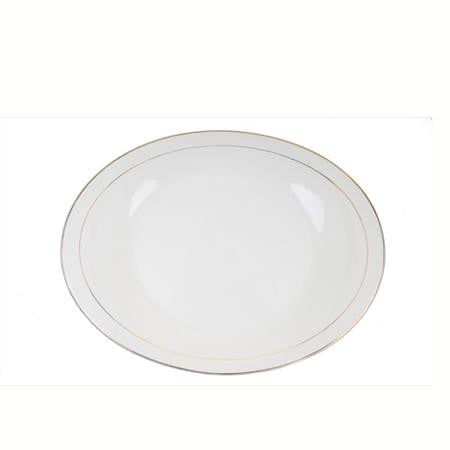 Party Rental Products Gold Rim 16 inch  Oval Platter Platters