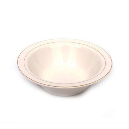 Party Rental Products Gold Rim Bowl 10 inch   Bowls