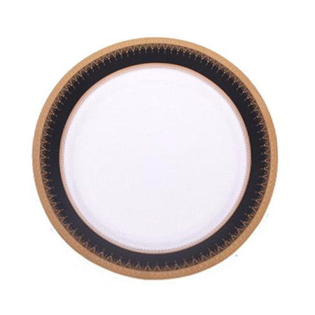 Black and Gold Edge Dinner Plate 10