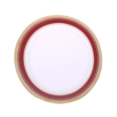 Red and Gold Edge Dinner Plate 10
