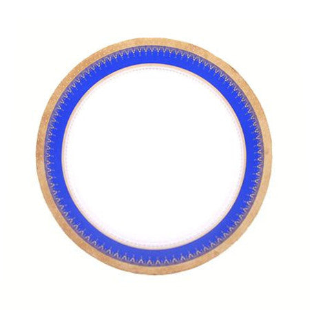 Cobalt and Gold Edge Dinner Plate 10