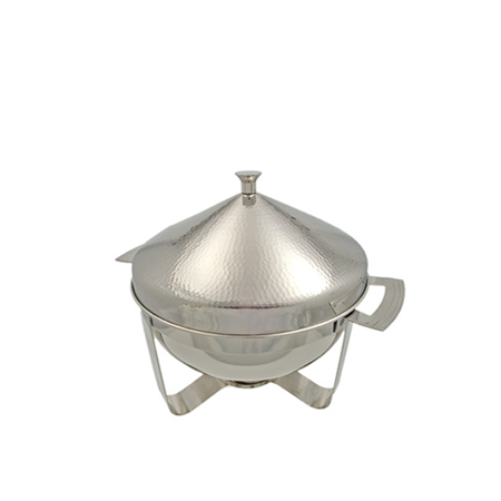 Hammered 4 Qt Round Chafer