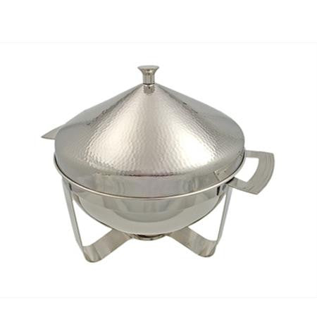 hammered 8qt round chafer chafers
