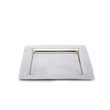 Square Hammered Edge 14 inch Tray