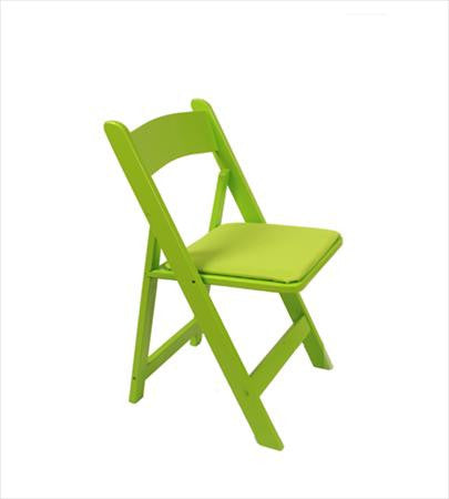 Lime Green Wood Folding Chair - Chairs