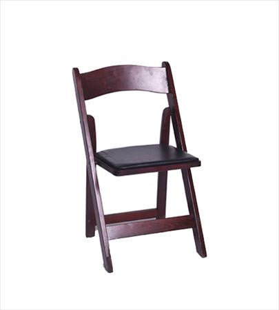 Party Rental Products Mahogany Folding Chair Chairs