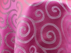 Pink and Silver Metallic Scroll - Metallic Scroll