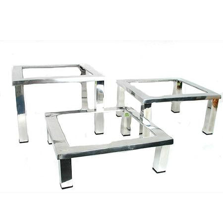 Party Rental Products Mod Aluminum Square Trays and Stands Buffet Ideas