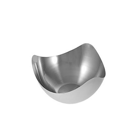 Mod Stainless Steel Curved Bowl 9 inch  - Mod Trays, Bowls and Stands