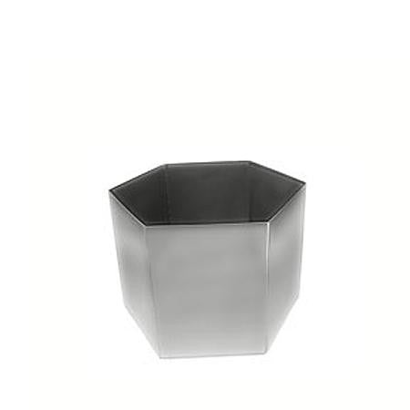 Party Rental Products Mod Stainless Steel Riser 7 inch  Hexagon Mod Trays, Bowls and Stands