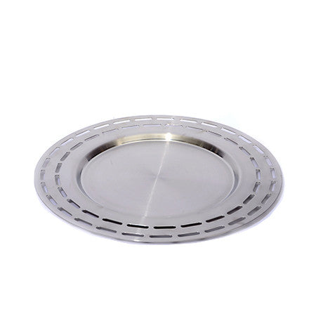 Mod Stainless Steel Slotted Tray 15 inch